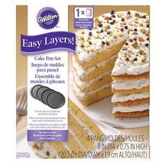 Easy Layers! Round Layer Cake Pans Set, 4-Piece | Wilton Round Cake Pans, Round Cakes, Fig Cake, Wedding Cake Flavors, Pan Set, Drip Cakes, Cake Tutorial, Savoury Cake, Clean Eating Snacks