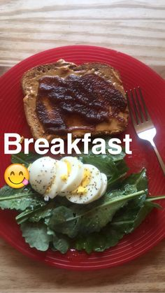 Apple & Peanut Butter Toast, Kale Greens with Olive Oil Vinaigrette & a Hard-Boiled Egg