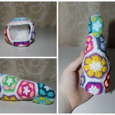 Make a Crochet African Flower Elephant   Guidecentral. amigurumi.