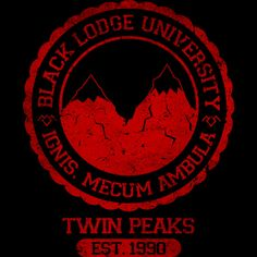 Black Lodge University is a T Shirt designed by Alecxps to illustrate your life and is available at Design By Humans