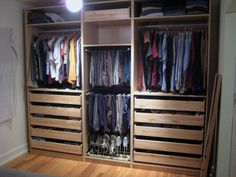 Wardrope system with sliding doors would be very cool & make for more space in bedroom