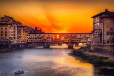 There's a Light Show at the Ponte Vecchio! by Karen Hutton