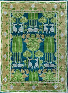 Carpet originally designed as madras fabric in 1903, later carried by Liberty.