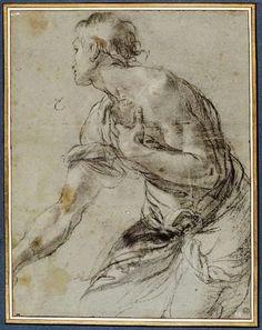 Shepherd Kneeling. Agostino Carracci. Italian. 1557-1602.