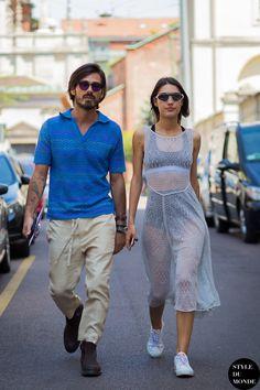 Patricia Manfield & Giotto Calendoli Street Style Street