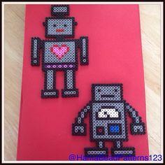 Hama bead robots by HamaBeadPatterns123