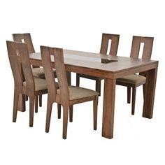 Comedor mod albardon elaborado con madera de tzalam una for Juego de comedor redondo 4 sillas