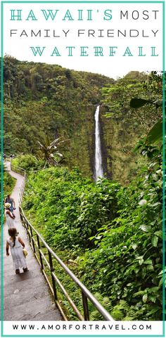 {Family Friendly Hike to Akaka Falls} Looking for a beautiful family friendly hike in Hawaii's Big Island? Hike down to Akaka Falls and surround yourself in lush green vegetation, with only the sounds of nature filling the air. The short mile loop hike Big Island Hawaii, Tonga, Bora Bora, Hawaii Travel, Travel Usa, Travel Tips, Hawaii Hawaii, Maui, Travel Advice