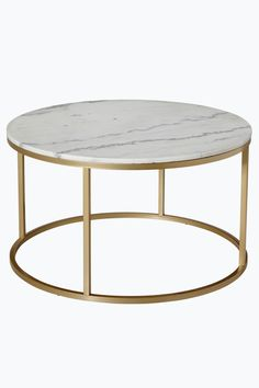 Ellos Home Sofabord Accent ø 85 Grå& Grå& - Sofaborde Brass Coffee Table, Metal Homes, Light Oak, Console Table, End Tables, Sweet Home, Interior Design, Terrazzo, Furnitures