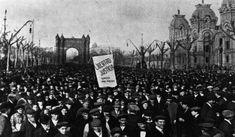 Manifestació durant la Setmana Tràgica