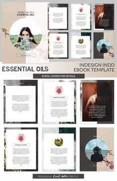 Essential Oils INDD Ebook Template by Coral Antler Creative on @creativemarket