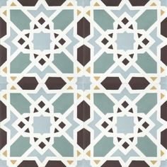Moroccan Encaustic Cement Tile Pattern 08e