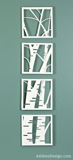 Ashbee Design: Birch Tree Shadow Box Simple and Stunning.