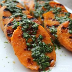Grilled Sweet Potatoes with Cilantro, Scallions, and Lime Recipe on Yummly