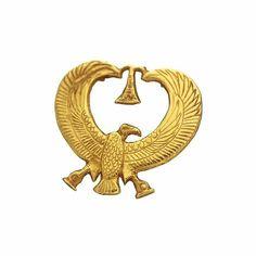 Gold amulet in the shape of winged vulture Nekhbet,patron goddess of Upper Egypt.Belongs to Pharoah Psusennes l.
