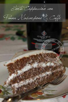 Torta Cappuccino whit mascarpone and coffee cream http://www.ipasticcidiluna.com/2013/01/ricetta-torta-cappuccino-con-crema-di.html