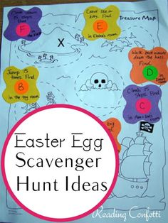 Treasure Map Egg Hunt - Creative Easter Egg Hunt Ideas For All Ages - Livingly Big Easter Eggs, Easter Hunt, Easter Party, Easter Stuff, Prize Eggs, Treasure Maps For Kids, Easter Scavenger Hunt, Scavenger Hunts, Easter Activities