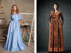 Обзор модных тенденций на длинные платья в пол с длинными рукавами на основе анализа дизайнерских домов моды.