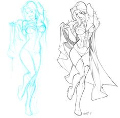 Emma Frost sketch commish by CarlosGomezArtist