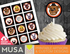 10 ULTIMATE FIVE NIGHTS AT FREDDY/'S FNAF BIRTHDAY PARTY FAVOR PACK TOKEN TATTOOS