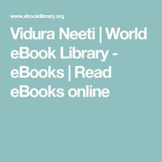 Vidura Neeti | World eBook Library - eBooks | Read eBooks online