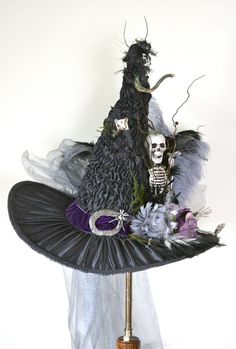 Dancing Musical Halloween Costume Witch Hats for Women Scary Party Decoration