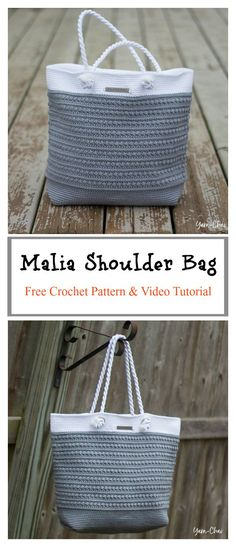 Malia Shoulder Bag Free Crochet Pattern and Video Tutorial #freecrochetpatterns