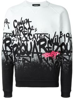Dsquared2 graffiti logo sweater