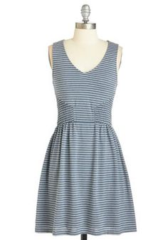 Bay Dreaming Dress. Set your imagination free in this dreamily nautical dress! #blue #modcloth