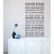 A place to shop.co.za . VINYL WALL STICKER 'House Rules' . Love it!