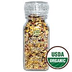 Simply Organic Chophouse Seasoning ORGANIC 3.81 oz. Bottle.  All Simply Organic Grinders have adjustable grinder tops. Pull up for a coarse grind and push the grinder top down for a more fine grind.  (pinned: I love this - it taste good on most any meal.)