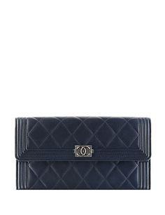 #CHANEL Boy Chanel Flap Wallet