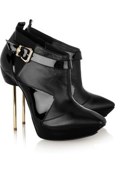 VERSACE Pin-heeled nappa leather ankle boots €690