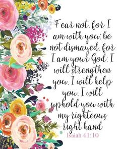 """You need to know that God Not man is your strength in times of trouble. """"For I am your God"""" Isaiah Scripture Verses, Bible Verses Quotes, Bible Scriptures, Faith Quotes, Bible Verses For Strength, Praise God Quotes, Heart Quotes, Inspirational Scripture Quotes, Scripture Images"""
