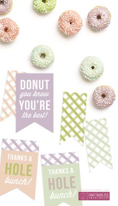 donut printables oh happy day - 236×412