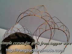 Easy crown - full version ( slow ) - How to make wire jewelry 281. Wire size to make diameter crown 15cm (can + a few centimeters to depreciate) 16 gauge ( wire diameter 1,4mm ) : 35cm ( 14 inch) 18 gauge ( wire diameter ... ) : 45cm ( 18 inch), 2 x 30cm