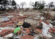 devastation following Hurricane Katrina
