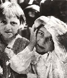 Warsaw, Poland, Two Jewish children in the ghetto. No record of names or if they survived