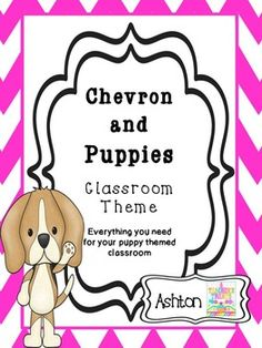 This bundle packet has everything you need for your chevron and puppy themed classroom!  Print on cardstock and laminate.48 Page Package includes:-Alphabet with clipart on chevron border -Calendar labels:Days of the weekMonths of the yearYesterday was/Today is/Tomorrow will beLast month was/This month is/Next month will be-Helping Hounds Classroom JobsClassroom jobs promote confidence and an understanding of real world jobs.
