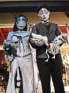 Corpse Bride and Groom - Homemade costumes for couples & Human Centipede- If you get lucky with one is it considered a ...