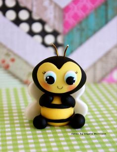 Set of 3 Bees cake toppers by CakesbyAngela on Etsy