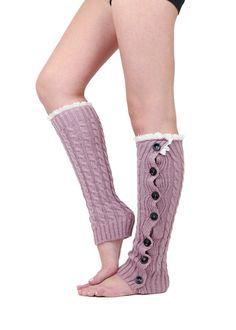 ROMANTIC PINK BUTTON down leg warmer boot socks  by gertiebaxter, $28.50