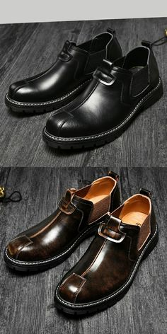 Shoes Fashion Style Mens Shoes 2018 Autumn And Winter Mens Plus Velvet Warm Business England Dress Shoes Set Feet Middle-aged Father Shoes Men's Shoes