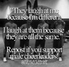 I support male cheerleaders 500% !!