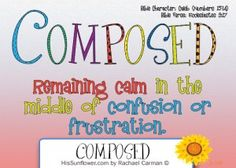 Character Quality: Composed  Composure refuses to panic. It rejects distraction. It renounces fear of man. Composure chooses to lean into God and His faithfulness.   HisSunflower.com by Rachael Carman