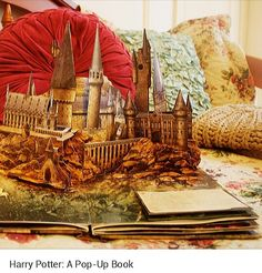 An excellent book of harry potter. Here, howgarts. #harry #potter #hermione #ron #weasley