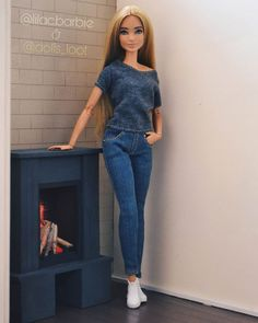 New Barbie Dolls, Barbie Model, Barbie Clothes, Cool Fire, Barbie Fashionista, Barbie World, Doll Crafts, Doll Stuff, Ball Jointed Dolls