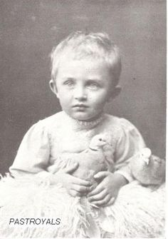 Archduke Karl, last emperor of Austria and future husband of Princess Zita, as a child.  Karl was born with no expectations of ruling as his uncle, Archduke Franz Ferdinand, was the heir presumptive to Emperor Franz Josef I, Karl's great-uncle.  Franz Ferdinand's assassination in 1914, however, made Karl the heir presumptive and lead to WWI, which cost him his crown.