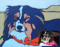 Custom Pet Portrait personalized pet art pet by MichaelaArt, $160.00