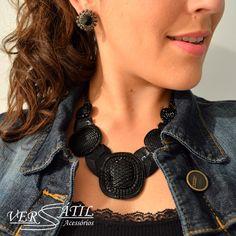 http://www.versatilacessorios.com.br/ #maxicolar #colar #colarpreto
